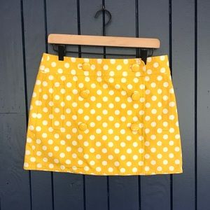 J. Crew Polka Dot Scooter Mini Skirt Size 8